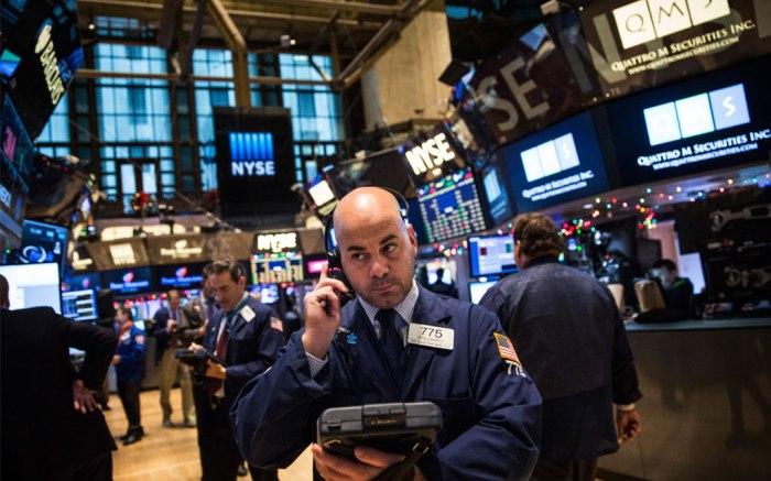 On the floor of the New York Stock Exchange