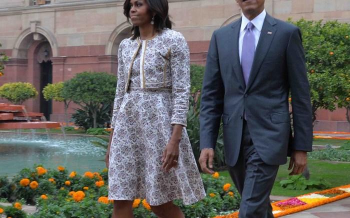 Michelle Obama India in Jimmy Choo