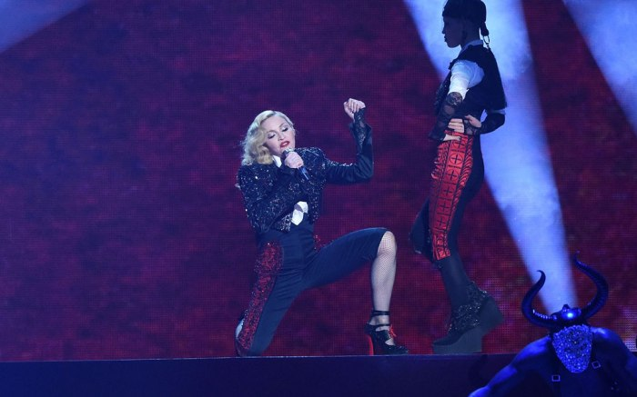 Madonna performs at the Brit Awards 2015