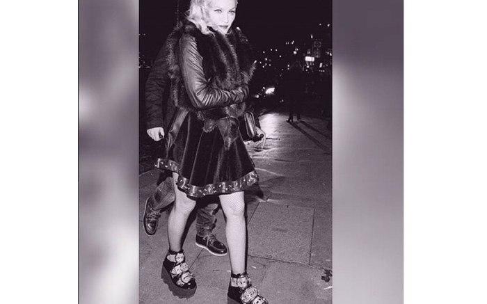 Madonna wears Alexander Wang