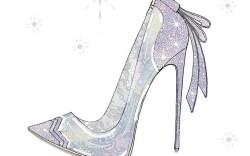 """Disney's """"Cinderella"""" Shoe Sketches"""