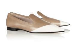 Miu Miu two-toned polished leather loafers
