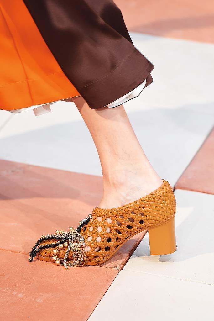Céline woven block heels,