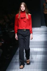 Fur sandals at Gucci's fall 15 men's runway show.