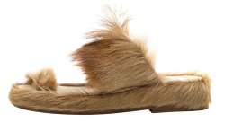 fur sandals men