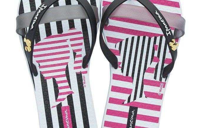 Ipanema Barbie themed flip flops.