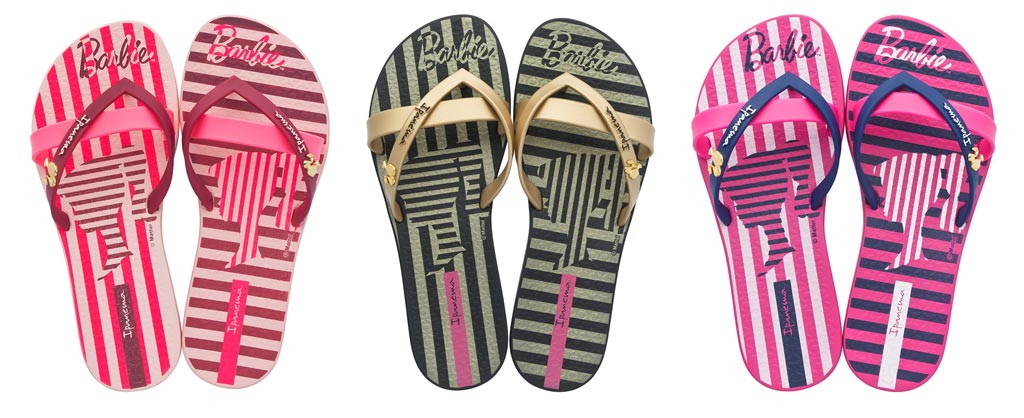 Ipanema Barbie themed flip flops.