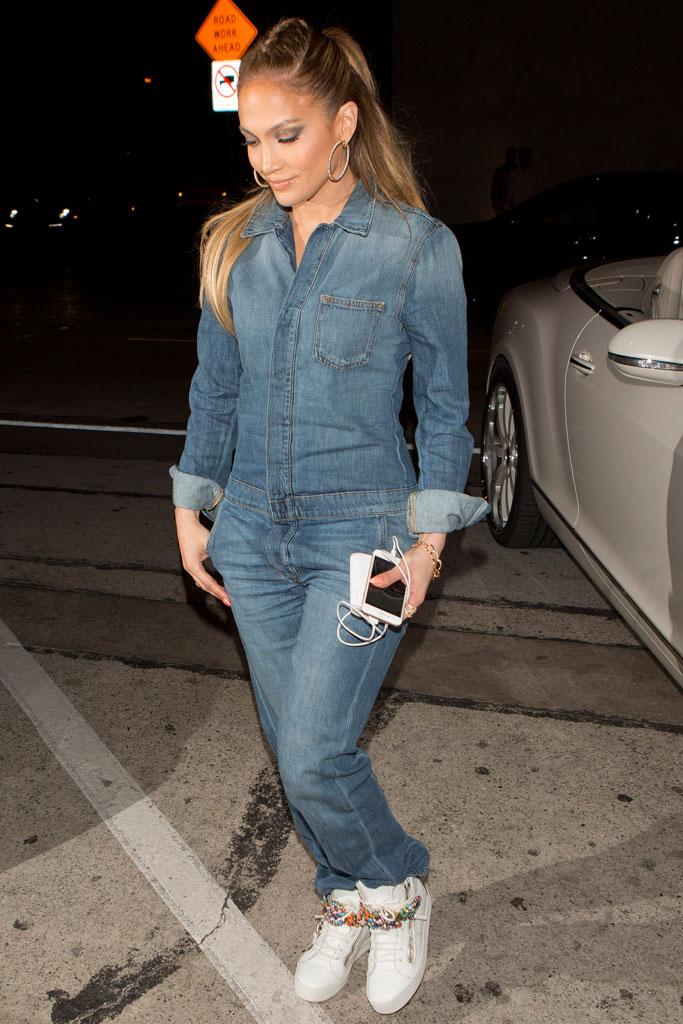 Jennifer Lopez wearing Giuseppe Zanotti sneakers