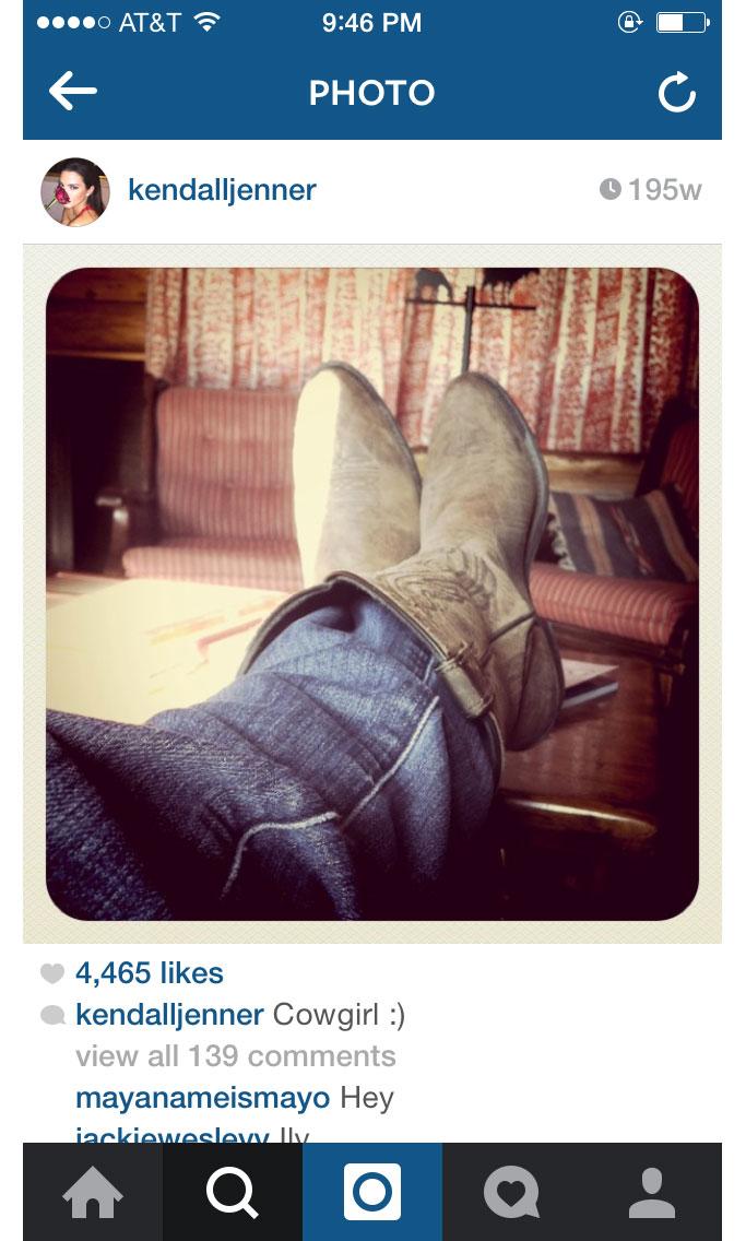 Kendall Jenner's first ever shoefie Instagram