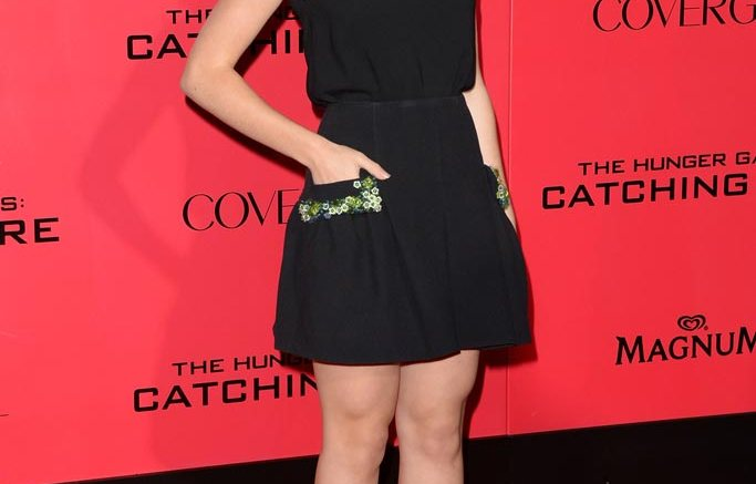 Kiernan Shipka in Jimmy Choo
