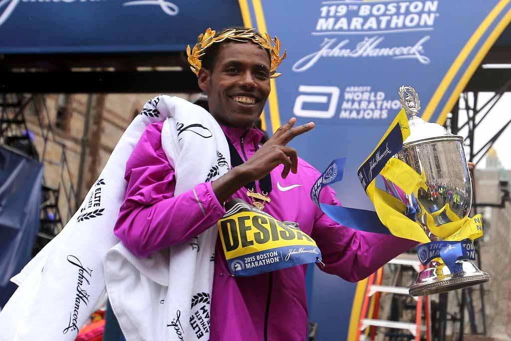 Lelisa Desisa wins Boston Marathon 2015