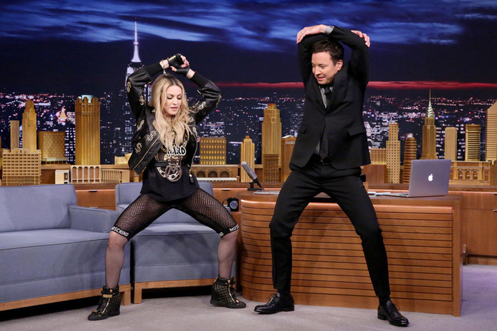 Madonna performs on The Tonight Show with Jimmy Fallon