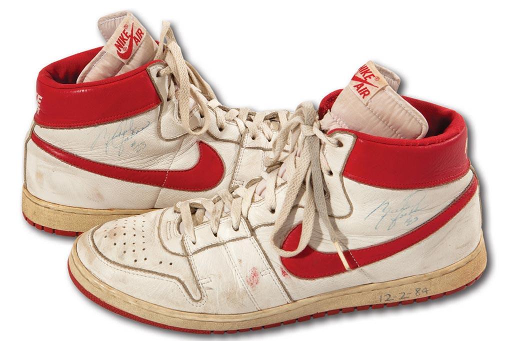 Michael Jordan Nike sneakers sold at auction