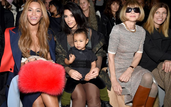 North West at Yeezy Boost