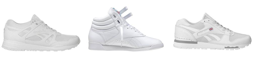 White 90s style Reeboks