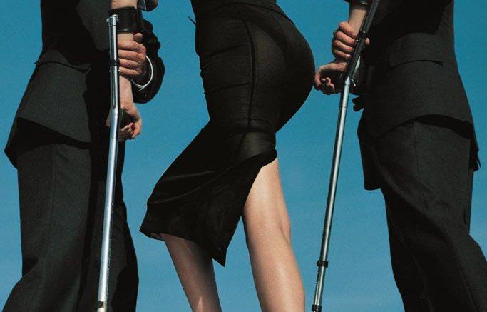 Helmut Newton shoot for American Vogue