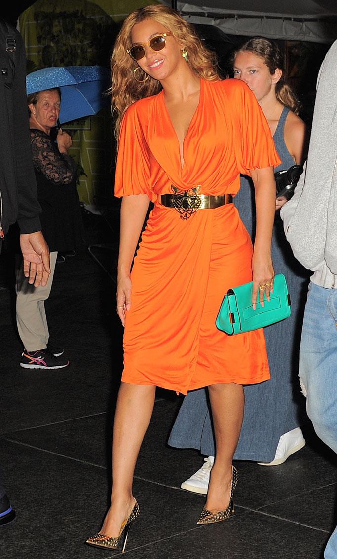 Beyoncé wearing Jimmy Choo pumps