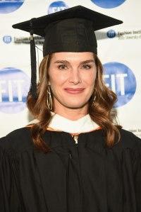Brooke Shields FIT graduation