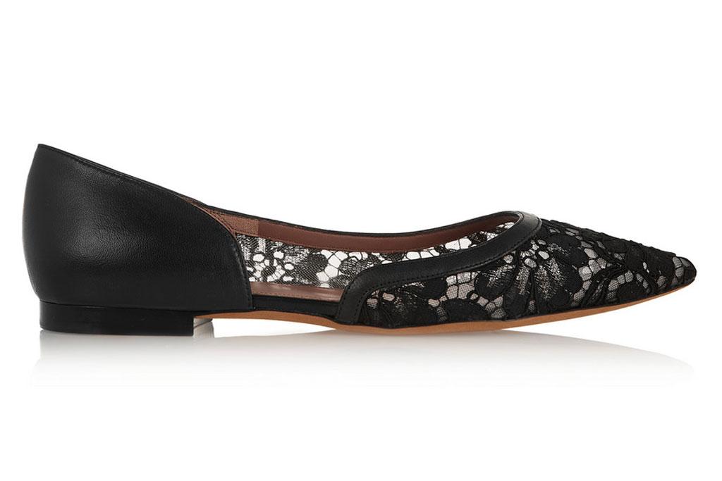 Givenchy black lace flats;