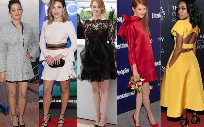 From Left: Marion Cotillard, Sophia Bush, Emma Stone, Darby Stanchfield, Gabrielle Union