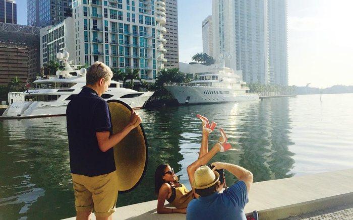 Footwear News Fashion Shoot Miami