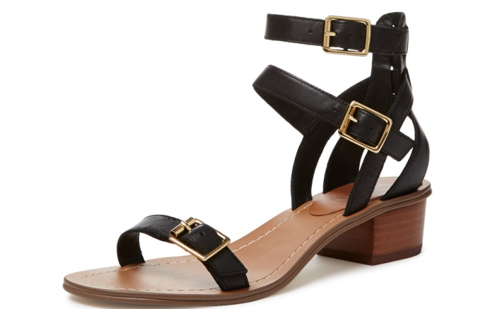 Atwell Lucette buckle strap block heel sandal, $65