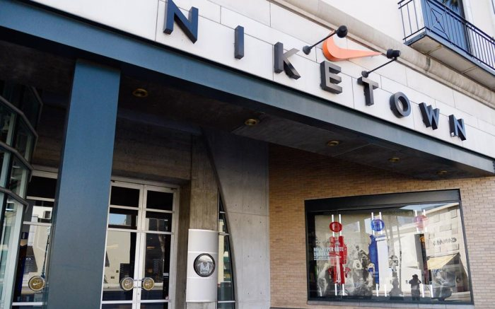 A Niketown store in Beverly Hills, Calif.