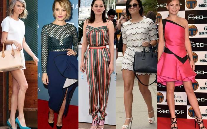 From Left: Taylor Swift, Rachel McAdams, Marion Cotillard, Demi Lovato, Britt Robertson