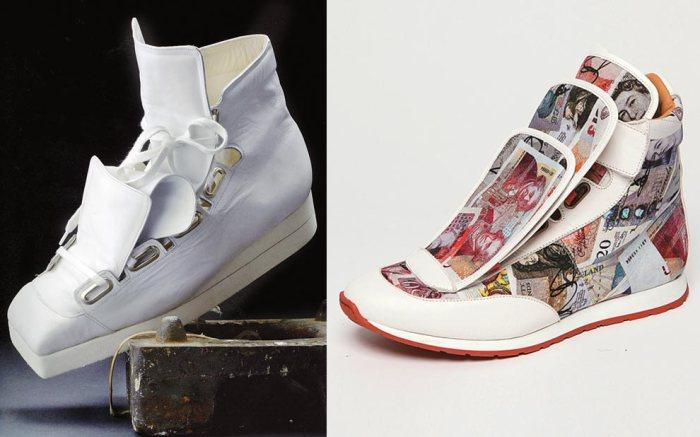 Vivienne Westwood three-tongue sneakers fall '15