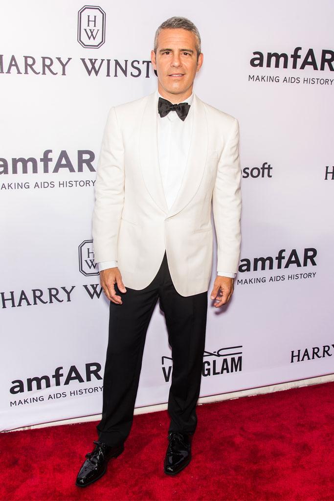 Andy Cohen amfAR gala