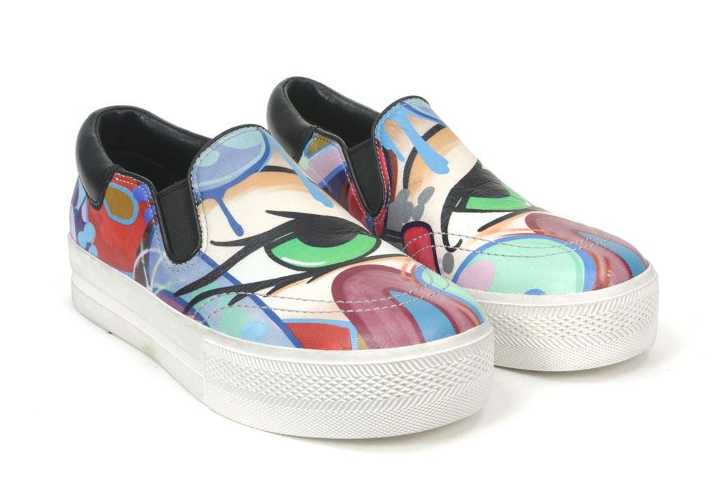 Ash and Crash Graffiti sneakers