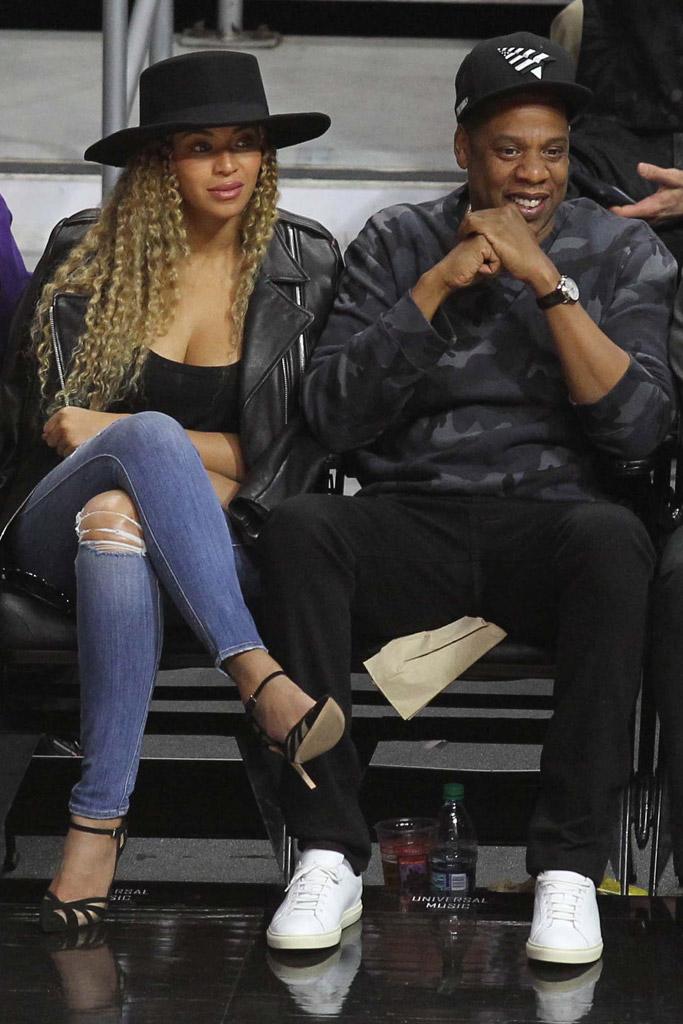 Beyoncé Jay-Z L.A. Clippers Game