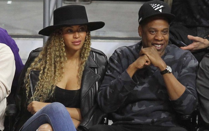 Beyonce Jay Z LA Clippers Game