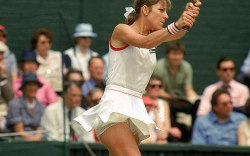 Chris Evert at Wimbledon