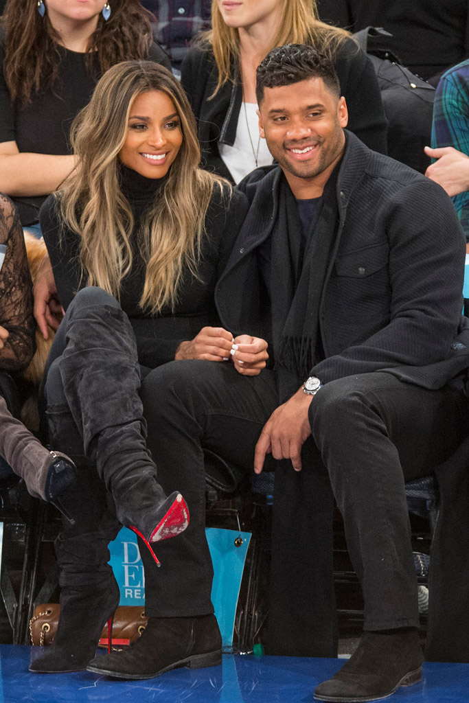 Ciara & Russell Wilson New York Knicks Game
