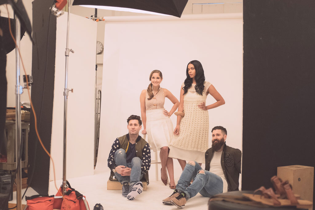 Behind-the-scenes on our emerging designers shoot