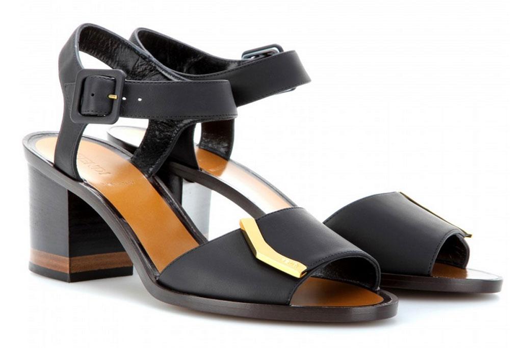 Fendi block heel sandals.
