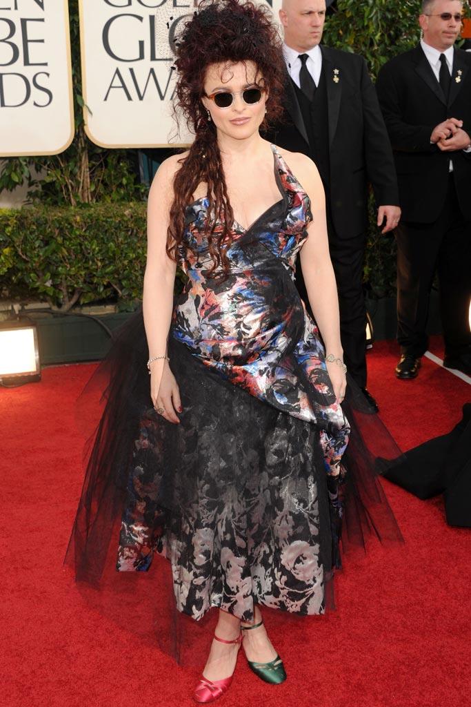 Helena Bonham Carter Craziest Celebrity Red Carpet Shoes