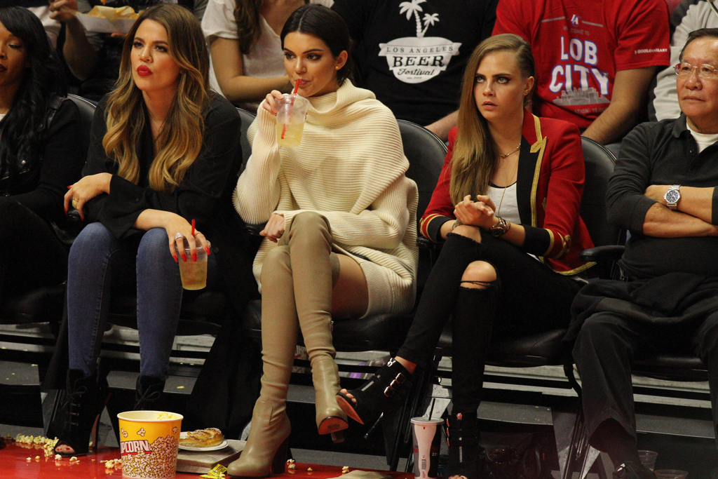 Celebrities At Basketball Games