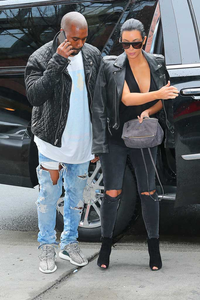 Kanye West Spotted in Adidas Yeezy 350