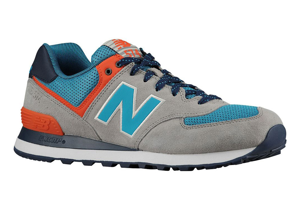 New Balance 574 sneakers.