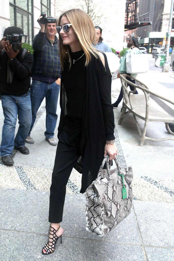 Olivia Palermo wearing Schutz heels