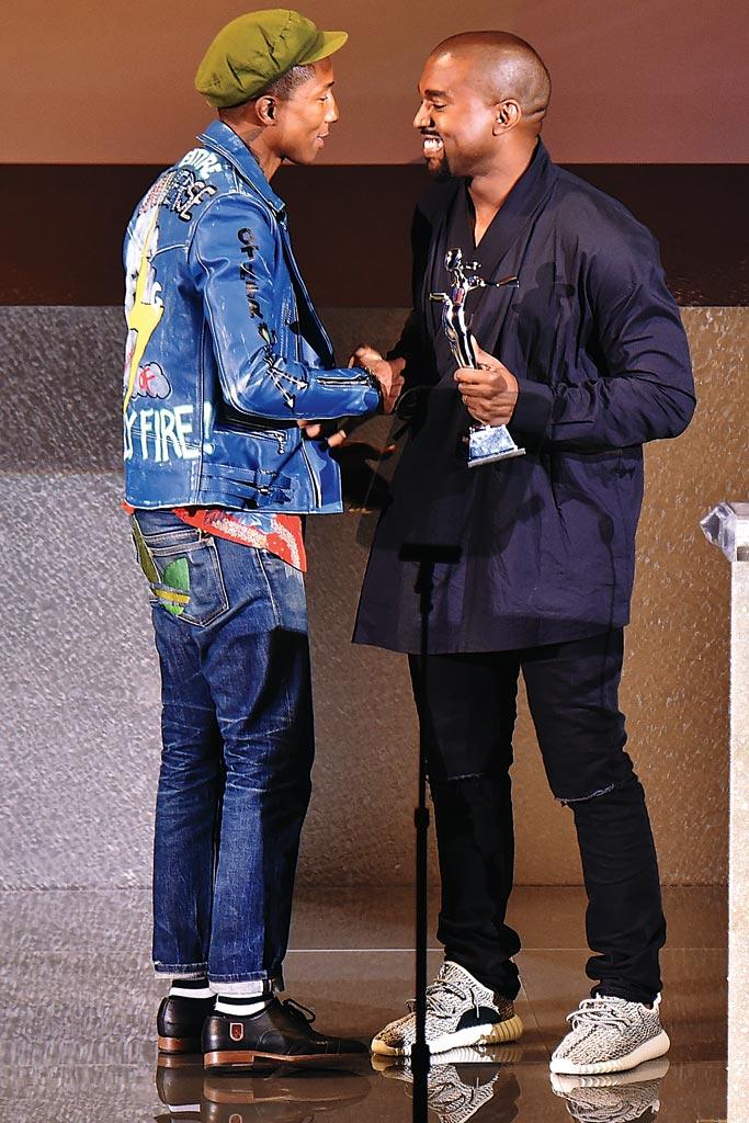 Pharrell Williams and Kanye West.