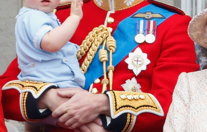 Prince William with son, Prince George.