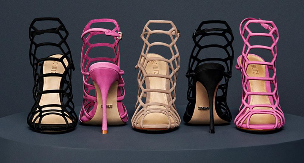 Schutz Juliana caged heels.