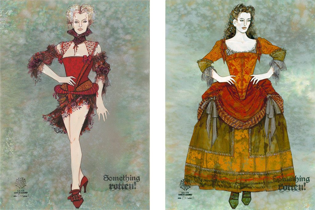 """Costume Designs From """"Something Rotten"""""""