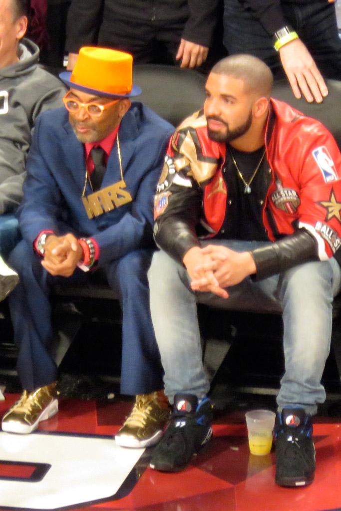 Spike Lee Drake NBA All Star Game