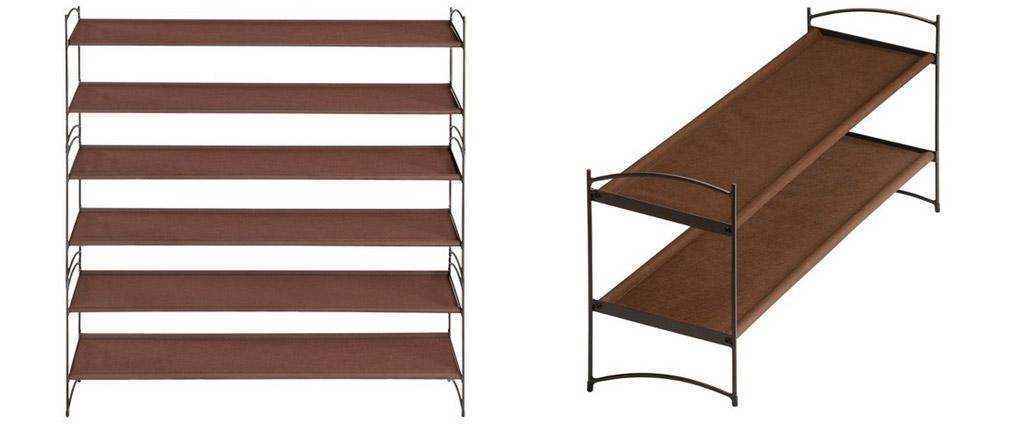 Shoe racks for under your desk.