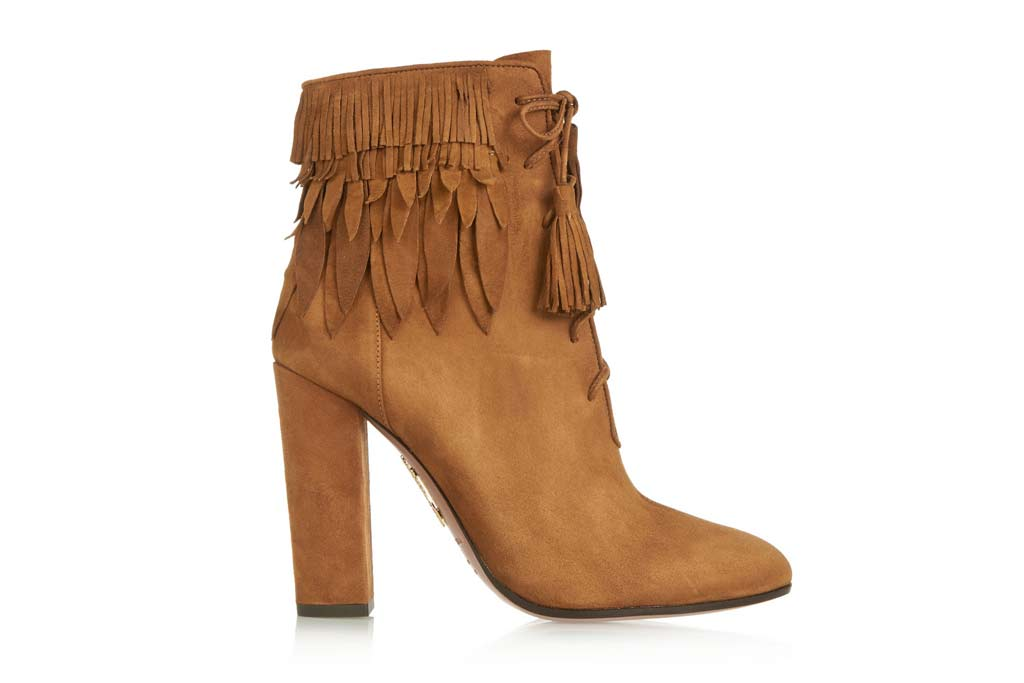 aquazzura fringe boots
