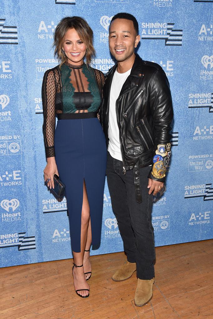 Chrissy Teigen and John Legend's Shoe Style